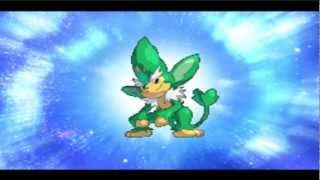 Simisage  - (Pokémon) - Pokemon Conquest English: Pansage Evolve to Simisage