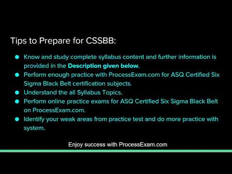 How to Prepare for the ASQ Six Sigma Black Belt (CSSBB ...
