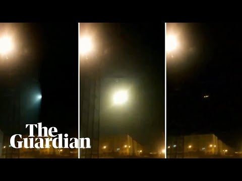 Iran video appears to show missile striking Ukrainian plane