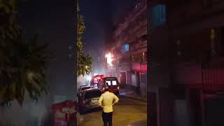 Apartamento pega fogo e mobiliza equipes do Corpo de Bombeiros