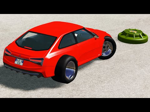Cars vs Anti Tank Mines - BeamNG Drive | CrashTherapy