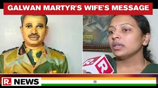 Independence Day 2020: Galwan Martyr Col Santosh Babu Wife Message For India - Download this Video in MP3, M4A, WEBM, MP4, 3GP