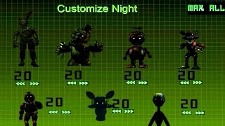 JUMPSCARES! JUMPSCARES!! Five Nights at Freddy's 3: Custom Night