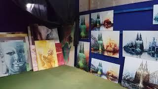 Atelierbesuch der Künstlerin Renate Berghaus 2020