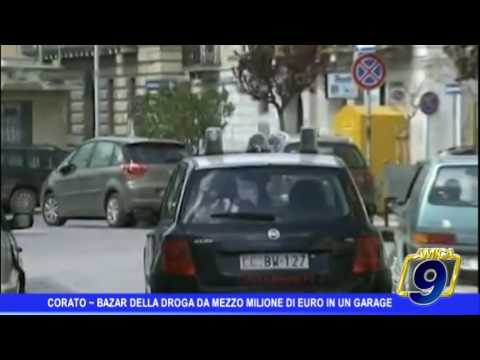 Corato | Bazar della droga da mezzo milione di euro in un garage