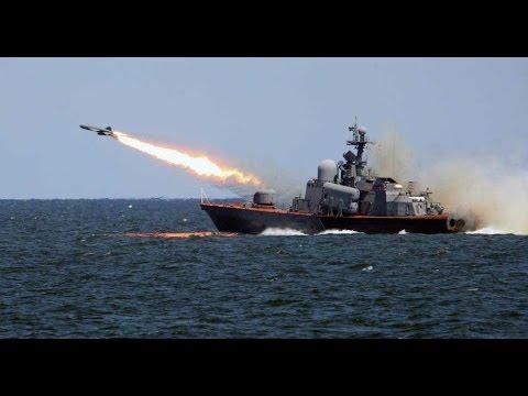 Корабли Каспийской флотилии снова открыли огонь «Калибром»