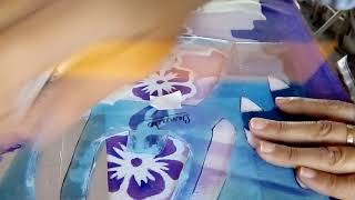 Pintado Barrado Falso Com Stêncil. Vídeo 2.