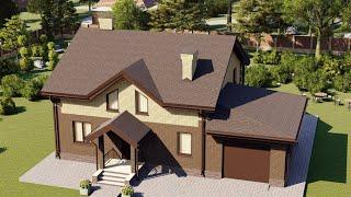 Проект дома 173-B, Площадь дома: 173 м2, Размер дома:  13,9x10,5 м