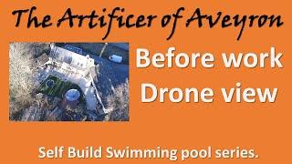 Ariel Video of pool before work From DJI Phantom Drone
