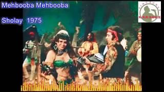 Mehbooba Mehbooba Hindi karaoke for Male singers with lyrics