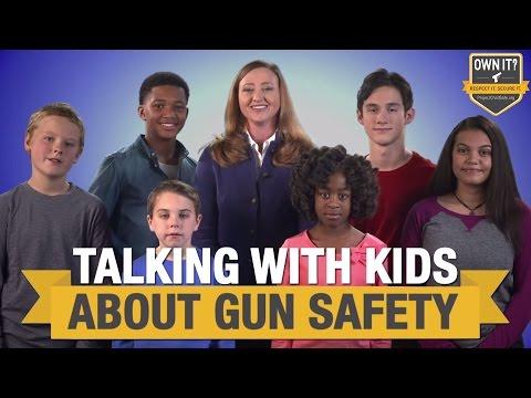 talking to kids about gun safety