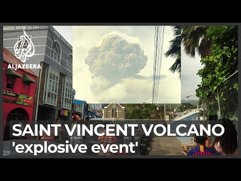 St Vincent volcano: New 'explosive event' causes power cuts