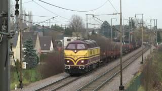 preview picture of video 'Enkele treinen in Schifflange - 20 november 2010'
