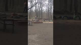 В Николаеве работники ЖКХ выбрасывают листья и мусор из баков в парке, - горожане. Видео