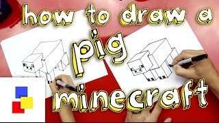 How To Draw A Pig From Minecraft