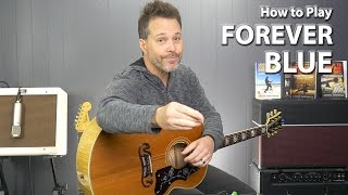 How to play Forever Blue Chris Isaak - Guitar Lesson