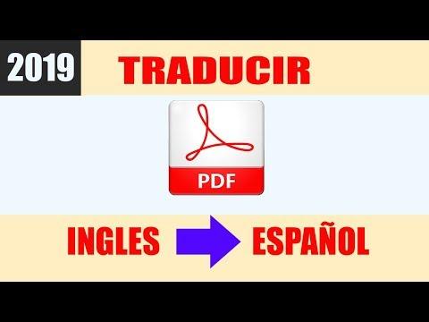 Como traducir un PDF de ingles a español - Sin Programas 2019