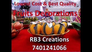 Seer Varisai Thattu Plates Decorations In Chennai By RB3 Creations 7401241066