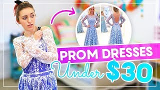 Trying on PROM DRESSES UNDER $30 from AMAZON and EBAY!