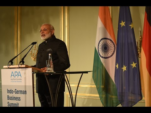 PM Modi's speech at the Indo-German Business Summit in Berlin, Germany