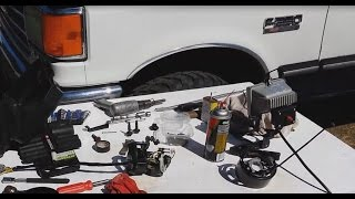 88 Ford F250 Steering Lock Actuator Removal, Steering Column Removal, Ignition Switch Replacement