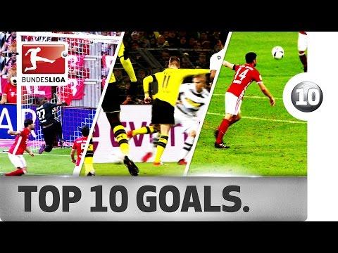 افضل 10 اهداف فى الدوري الالماني 2016-2017