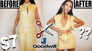 DIY THRIFT STORE OUTFIT MAKEOVER!