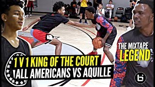 1 V 1 King Of The Court All Americans vs Mixtape LEGEND!! Aquille Carr & Tre Mann SNAP!