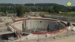 preview picture of video 'Sefi-Intrafor - chantier du bassin de stockage Harquebosc - Harfleur (Le Havre)'