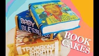 How To Make A BOOK CAKE Using Edible Prints