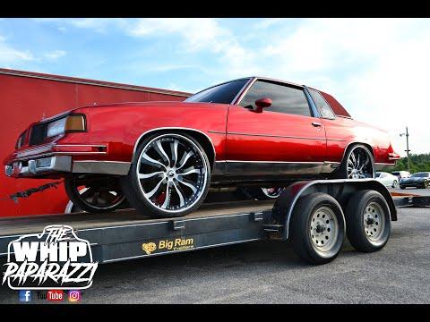 """Bloody Cutty G Body Oldsmobile Cutlass on 24"""" Forgiato Wheels"""
