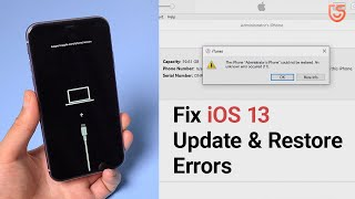 How to Fix iOS 13 iPhone Could Not be Restored. An Unknown Error Occurred (9, 10, 11, 4013)