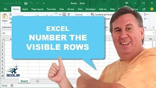 """Learn Excel 2010 - """"Number The Visible Row"""": Podcast #1476"""