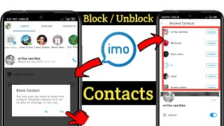 How to Block & UnBlock imo Contacts 2020  Block imo Contacts   Unblock imo Number