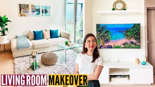 DIY SMALL LIVING ROOM MAKEOVER ON A BUDGET: IKEA Home Decor Must Haves // Nat And Max