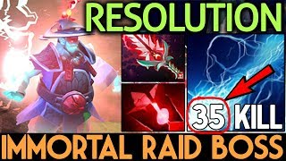 Resolution DOTA 2 [Storm Spirit] Immortal Raid Boss 35 Kills