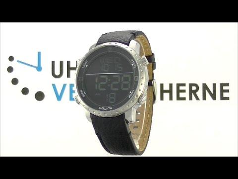 Police Digital Herrenuhr Armbanduhr P14005JS-02 Cyber schwarz