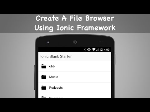 Create A File Browser Using Ionic Framework