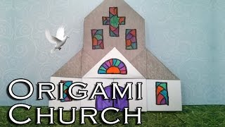 Easy Origami Church (diff 5/10) おりがみ教会 Easter Origami  (église Kirche Iglesia)