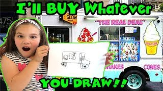 I'll BUY Whatever You DRAW Challenge!
