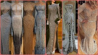 Gorgeous Sequince Work & Stones Lace Applique Party Wear Evening Gowns Mermaid Dress Ideas