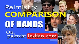 6 Hands of famous personality compared in Palmistry Reading