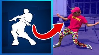 ALL *NEW* FORTNITE SEASON 4 DANCE EMOTES In REAL LIFE!