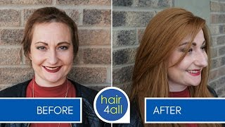 How to Apply (Attach) a Non-Surgical Hair Replacement System for Women with Charlotte - Part 1