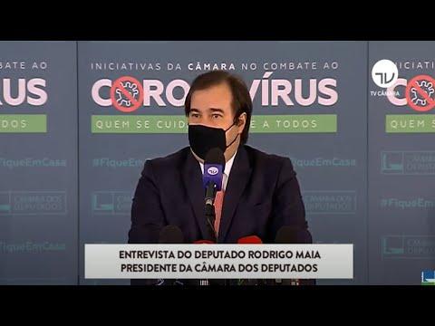 Coletiva com o presidente da Câmara, Rodrigo Maia - 12/01/21