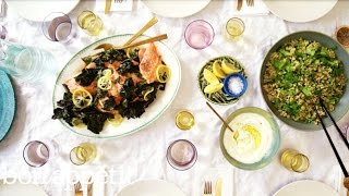 Lemon-Roasted Side of Salmon is the Perfect Dinner Party Dish