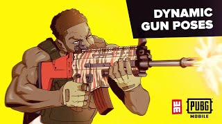 Easy Tips Drawing Dynamic Pose Holding Weapons | NEW PUBG MOBILE GUN SKINS