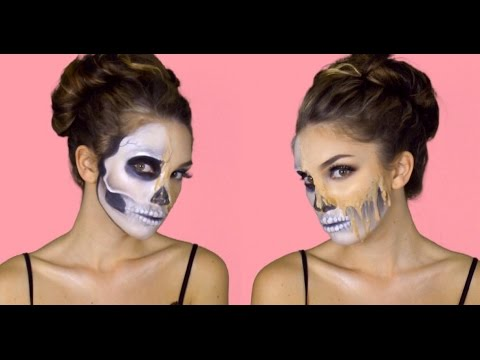 MELTING SKULL makeup tutorial | Julia Dantas