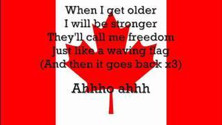 Young Canadian Artists Wavin' Flag Lyrics for Haiti