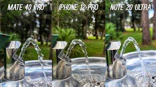 iPhone 12 Pro vs Huawei Mate 40 Pro vs Galaxy Note 20 Ultra Camera Test